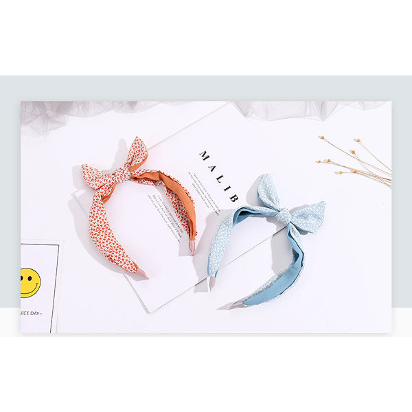 Floral Pattern Orange Hairband