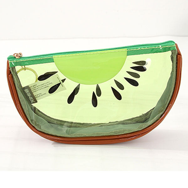 Fresh Kiwi Fruit Design Makeup Bag (Green)