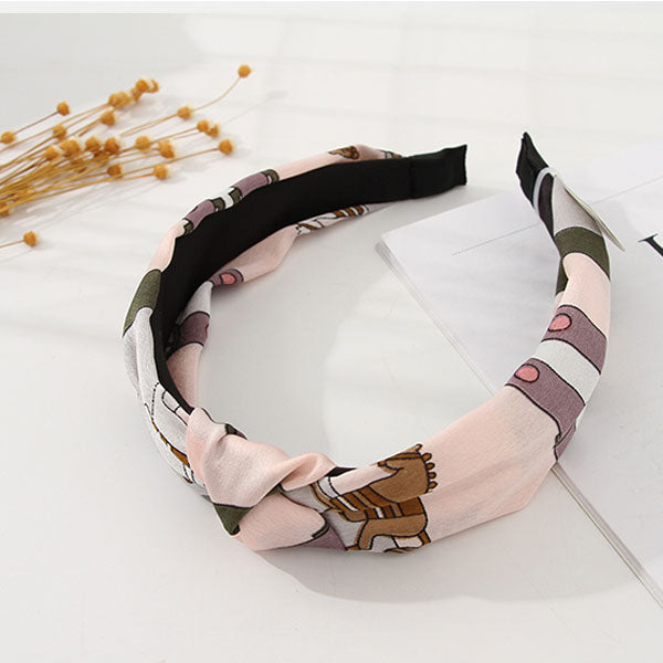 Fresh Style Silky Printed Hairband
