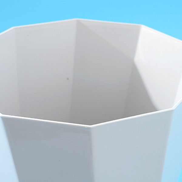 Geometric Shape Trash Can- Gray