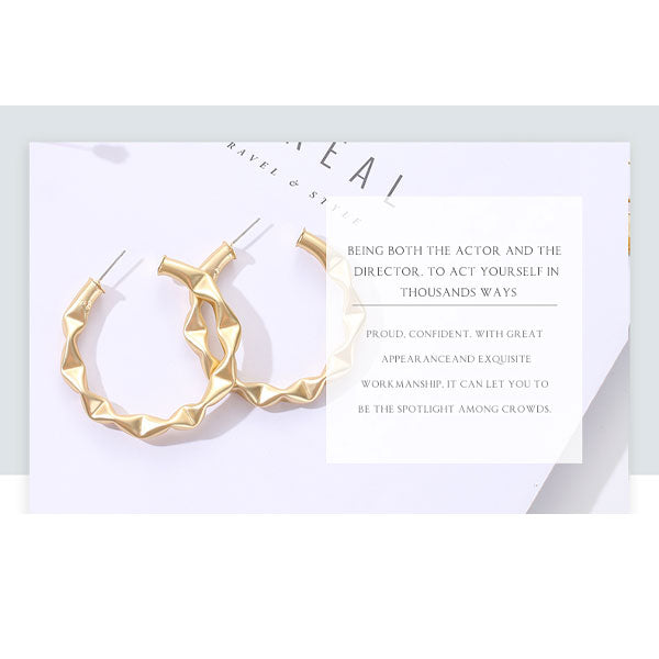Geometric Statement Hoop Earrings