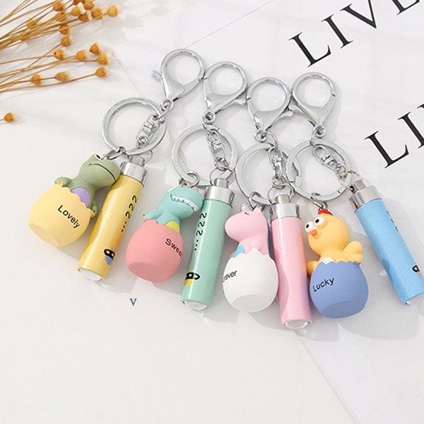 Hatching Animal Flashlight Bag Charm Keychain Pendant (Price For 1 Piece)