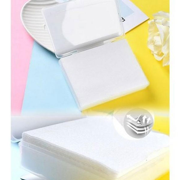High Quality Makeup/Stains Wipes Tissue- 36 In Box -White
