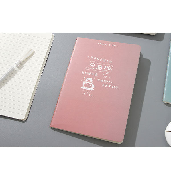 Interesting Phrase Design 32K Stitched Binding Notebook