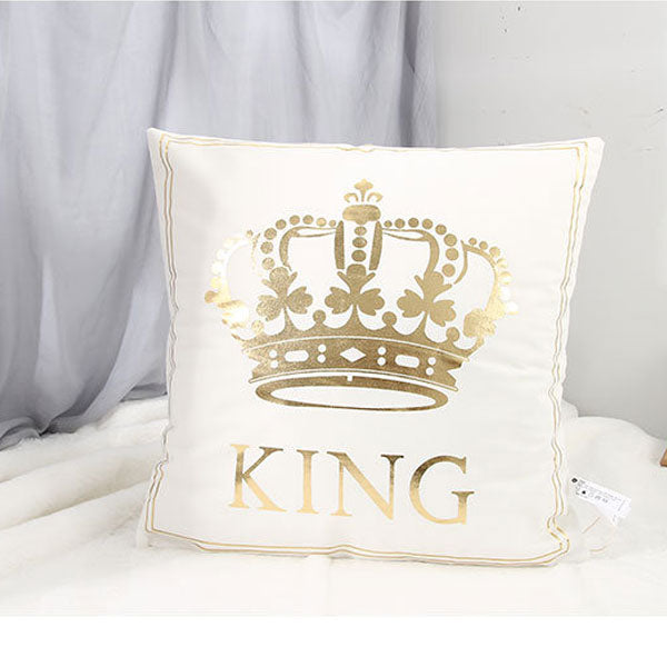 """KING"" Hot Stamping Throw Pillow"
