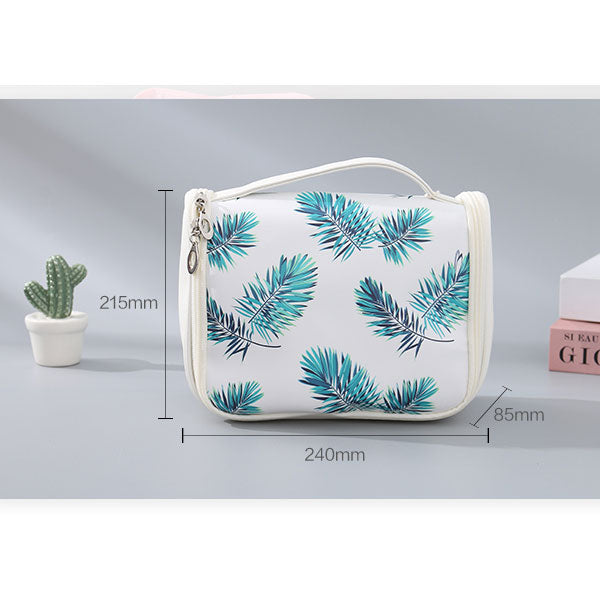 Leaves Prints Hanging Toiletry Bag