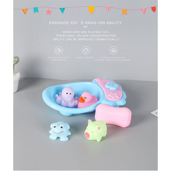 Lovely Animal Bath Toy Set