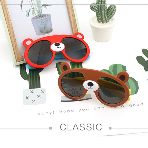 Lovely Bear Sunglasses for Children-Red (Price For 1 Piece)