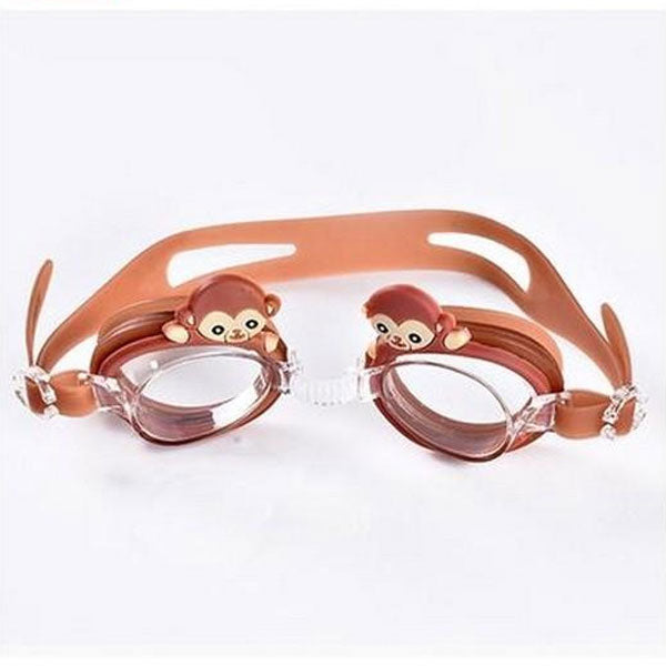 Lovely Kids Cute Swimming Goggles- Monkey- Brown