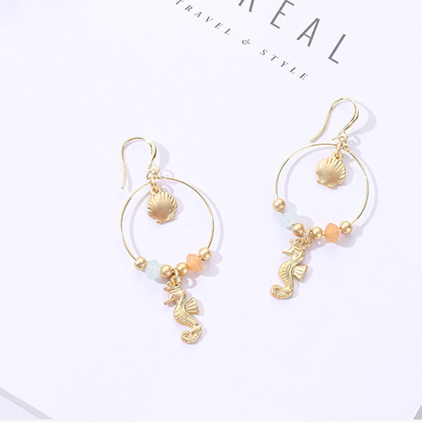 Marine Collection Seahorse Dangle Earrings