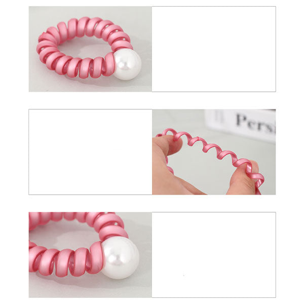 Matte Telephone Cord Hair Coil