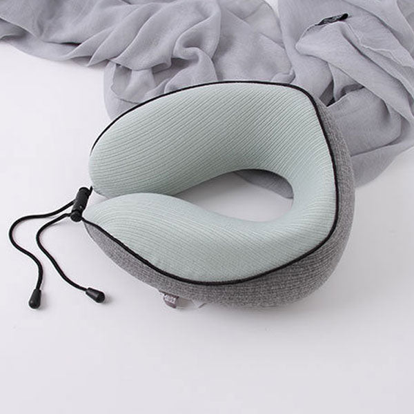 Memory Foam U-Shaped Neck Pillow (Green and Gray) (Price for 1 piece)