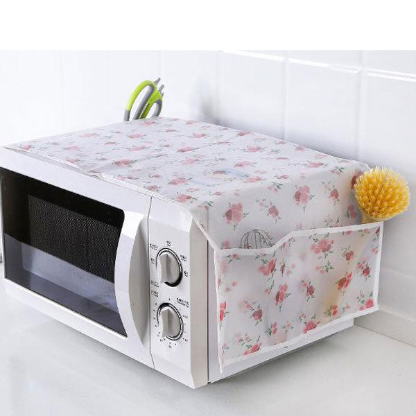 Microwave Oven Dustproof Cover with Storage