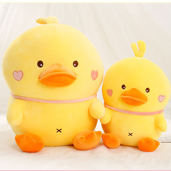 Middle-Sized Chubby Duck Plush Doll
