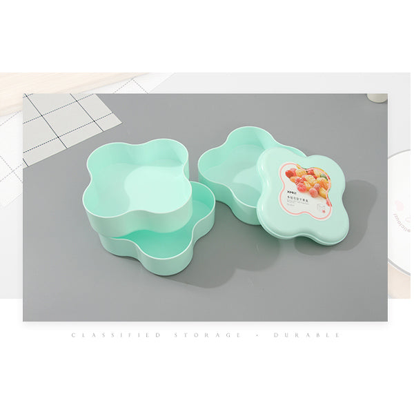 Multiple-Layer Flower Design Snack Serving Tray