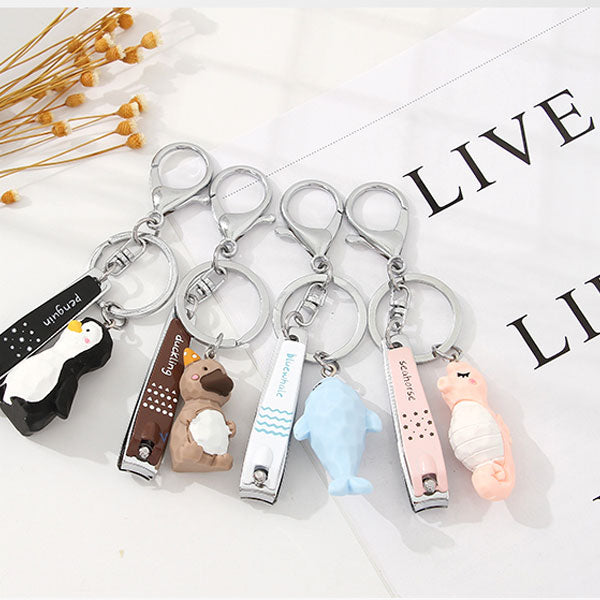 Ocean Animal Nail Clippers Bag Charm Keychain Pendant (Price For 1 Piece)