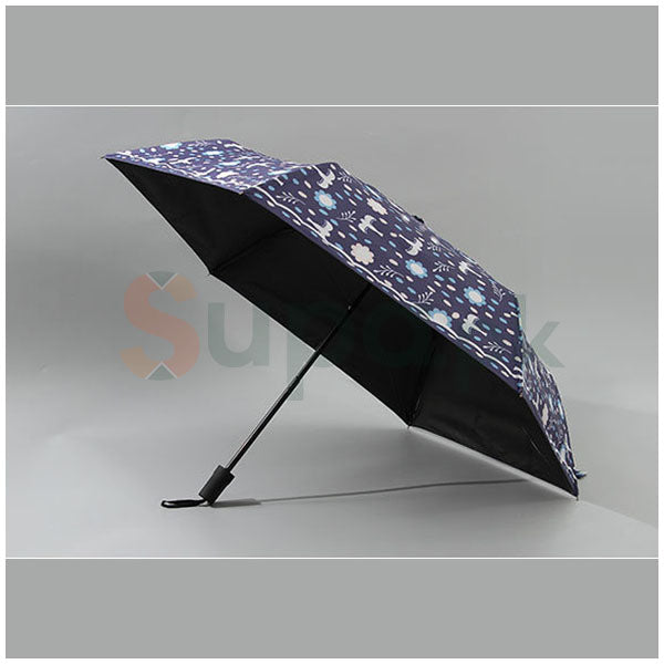 Petrel Pattern Tri-Fold UV Protection Umbrella
