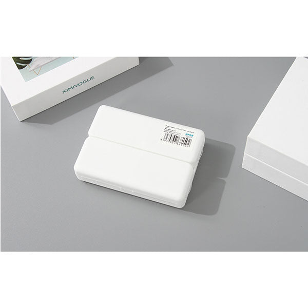 Pill Storage Case with Magnet (White)