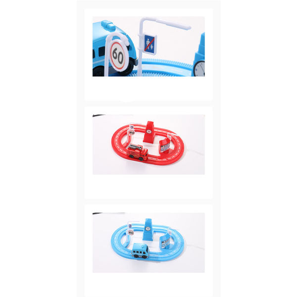 Plastic Mini Toy Car with track Set, For School/Play School