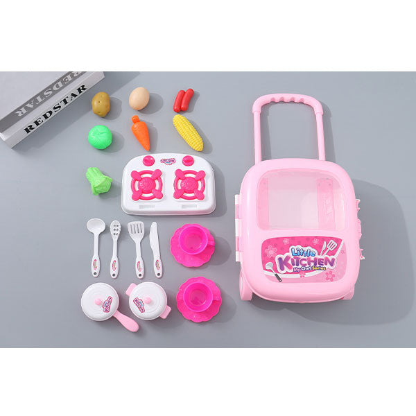 Pretend Play Chef Toy Kit with Suitcase Design Storage Case