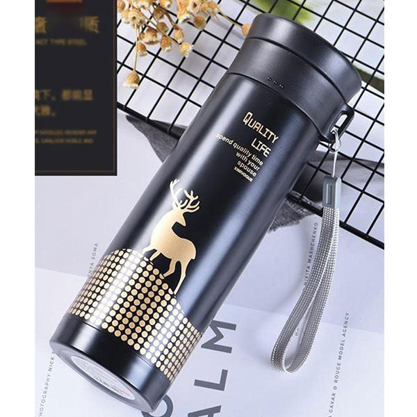 Professional Hot & Cold Vacuum Flask Bottle-430ml-Black