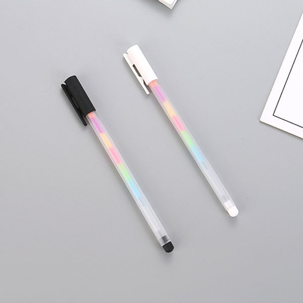 Rainbow Series 6-Colors Needle Tip Gel Pen