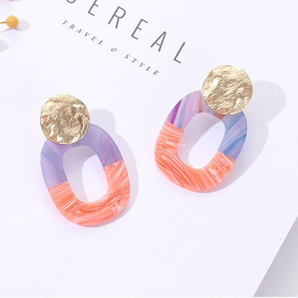 Retro Acrylic Geometric Earrings