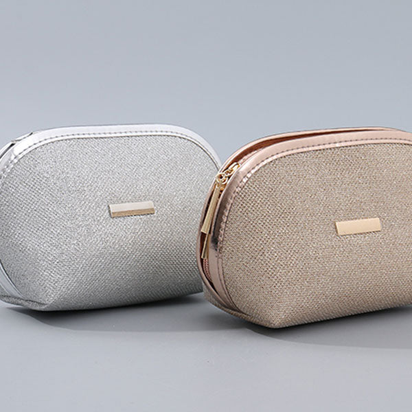 Shiny Glitter Half Moon Makeup Bag (Price For 1 Piece)