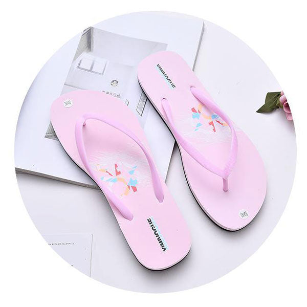 Simple Style Girlish Flip Flops for Women (Light Pink) Size: 37/38/39/40