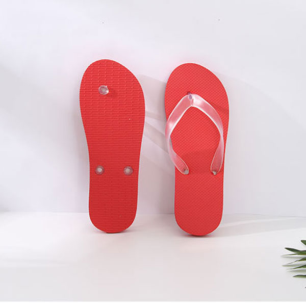 Simple Style Solid Color Flip Flops for Women (Red)(39/40)