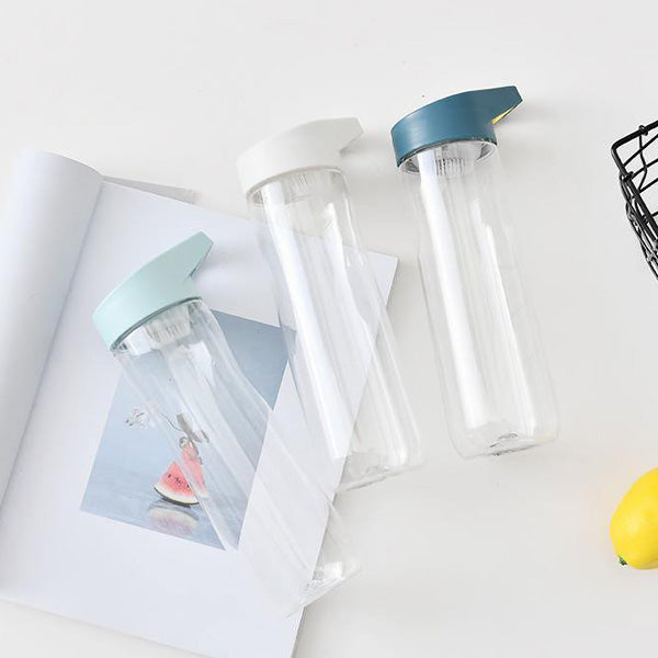 Simple Style Trendy Plastic Water Bottle (Price For 1 Piece)