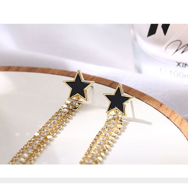 Star Long Tassels Earrings