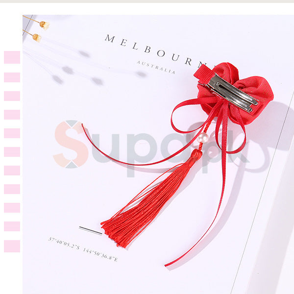 Chinese Style Flower Design Hair Clip for Children
