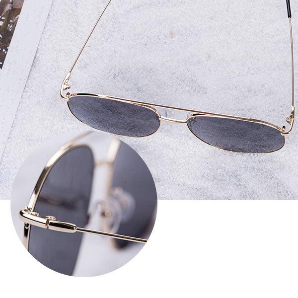 Stylish Vogue Sunglasses-Gold Frame Gray Lenses