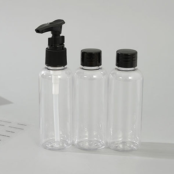 5 Pcs Travel Bottles with Toiletry Bag (Makeup Tool)