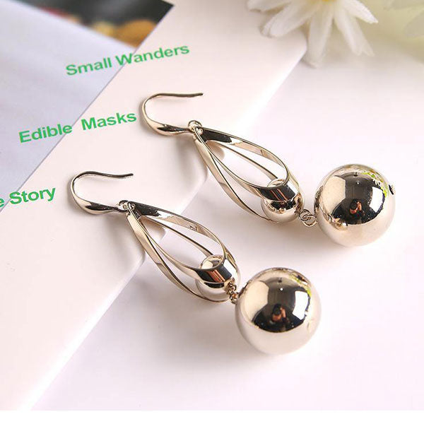 Trendy Bead Dangle Earrings