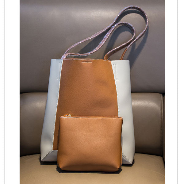 Trendy Spliced Color Shoulder Bag