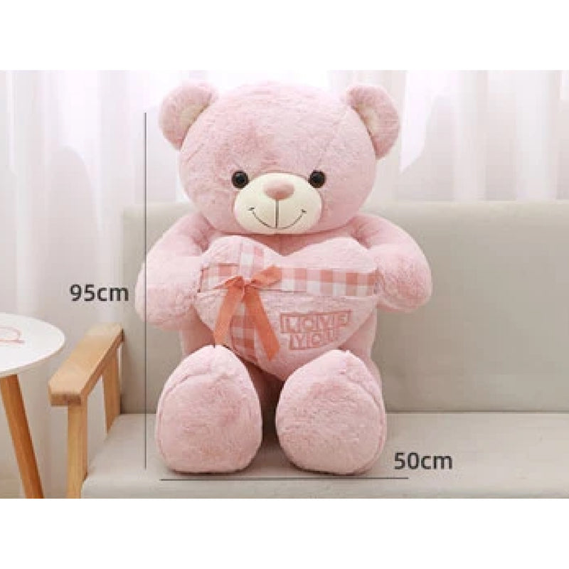 Ribbon Heart Bear Plush Doll 95cm