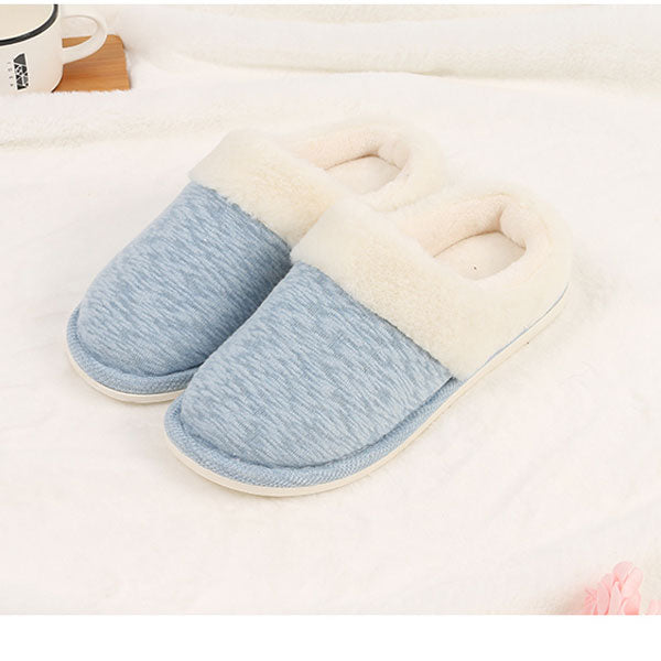 Winter Warm Slippers for Women (39/40) (Blue)