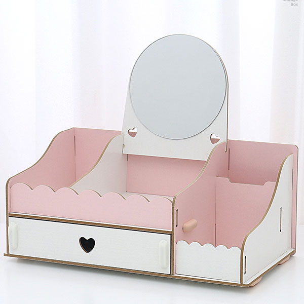Girl Collection Contrast Colors Exquisite Desktop Storage Organizer