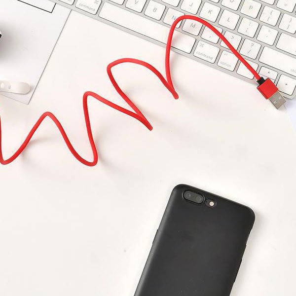 Cloth Braided Data Charging Cable for Android(Red)