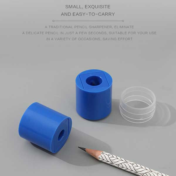Dual-Hole Cylindrical Pencil Sharpener