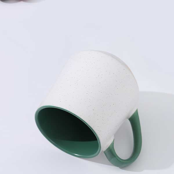 Dual Color Mug 550ml/18.5oz. (Green and White)