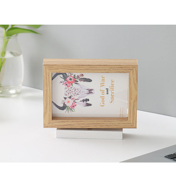 360°Swiveling 7-Inch Double-Sided Picture Frame