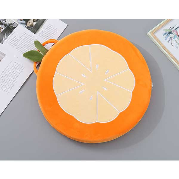 Orange Round Chair Cushion