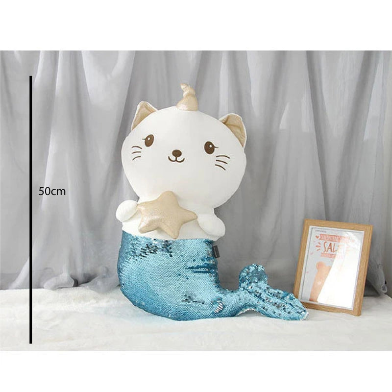 Cat with Mermaid Tail Plush Doll