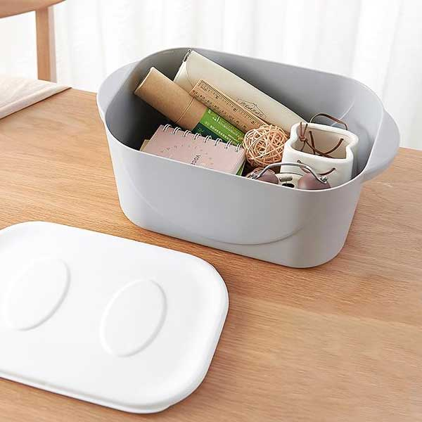 Small Smiling Face Storage Box (Apricot) (Price For 1 Piece)