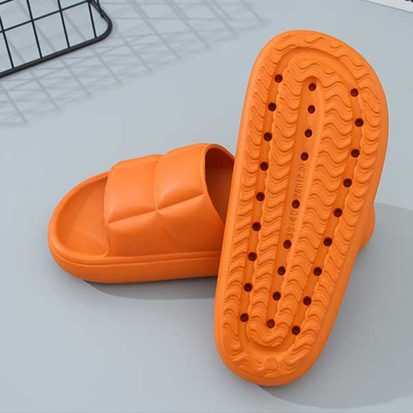 Slides with Soft and Thick Sole (39/40) (Orange)