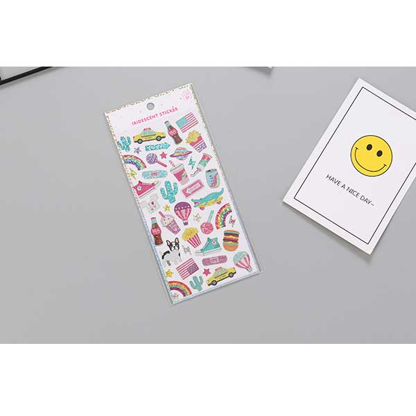 Iridescent Sticker (Price For 1 Pack)
