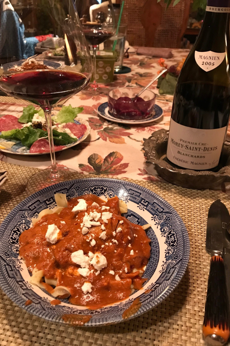 Aged Burgundy with Chicken Dracula